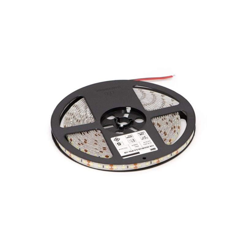 Светодиодная лента 12 V (вольт): Lux (яркая), холодный белый, SMD 2835, 5 метров, 9,6 W (вт), LED 120 шт/м, IP65 вид фото