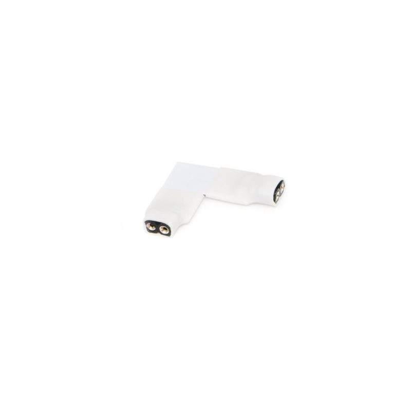 Угловой коннектор для ленты mono белый фото
