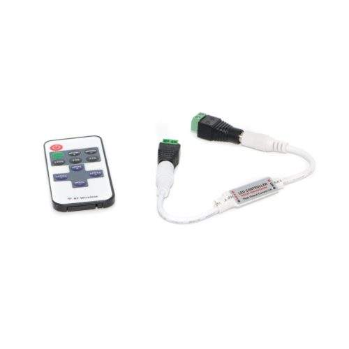 Контроллер с пультом 12 V (вольт) PDU-01: белый, 5A, 11 кнопок, тип — MONO фото