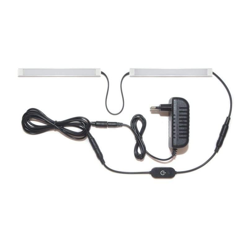 подсветка для прямой кухни с разрывом с сенсорным выключателем лента Standart в профиле фото