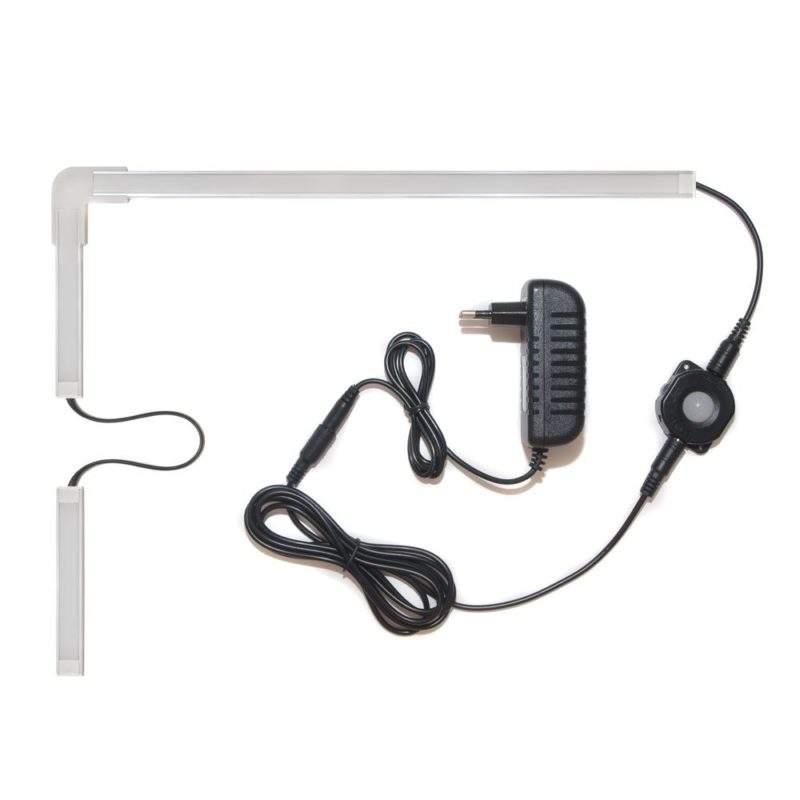 подсветка для угловой кухни с разрывом с датчиком движения лента Standart в профиле фото