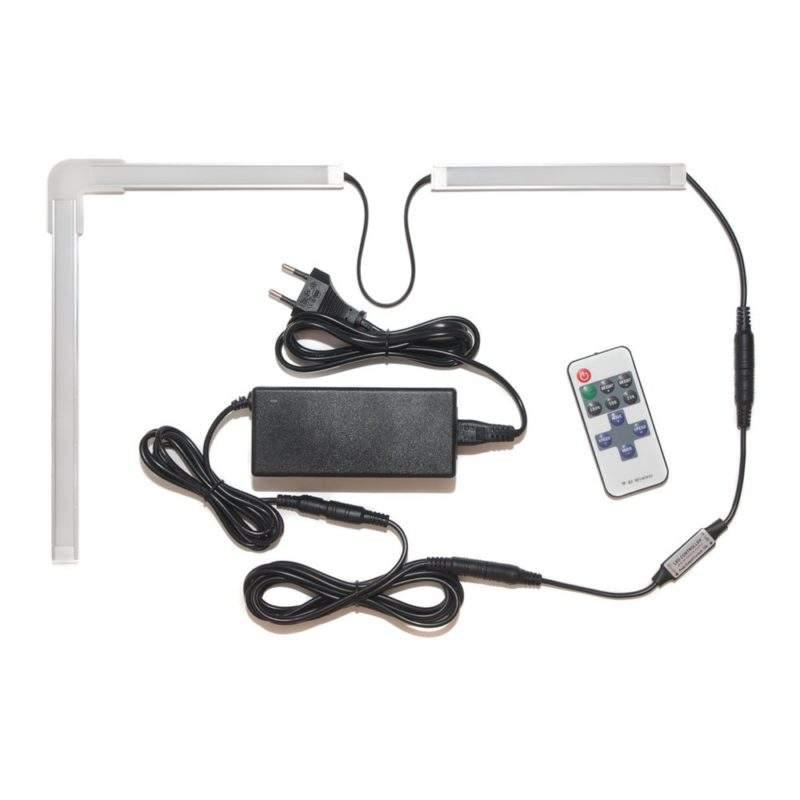 самоклеющаяся светодиодная led лента с пультом и блоком питания купить фото