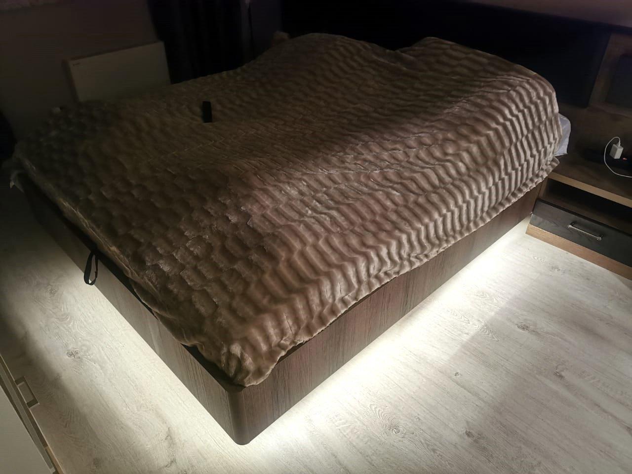 Подсветка двуспальной кровати с датчиком движения отзыв iqlux Сергей 13_02_20 фото
