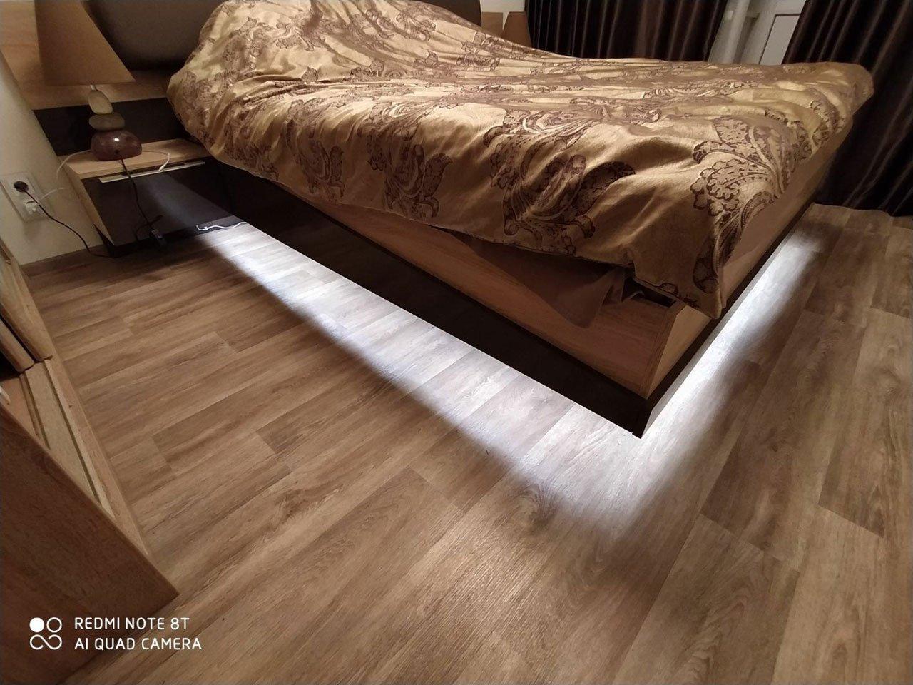 Подсветка двуспальной кровати с датчиком движения отзы iqlux Светлана 16_01_20 фото