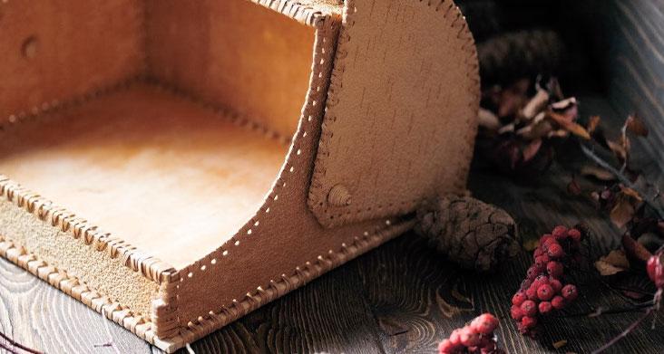 хлебница из бересты фото