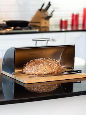 хлебница из нержавеющей стали фото