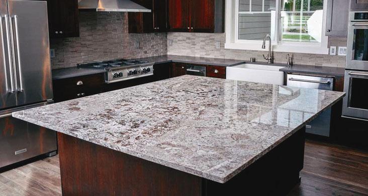 каменная столешница для кухни плюсы и минусы фото