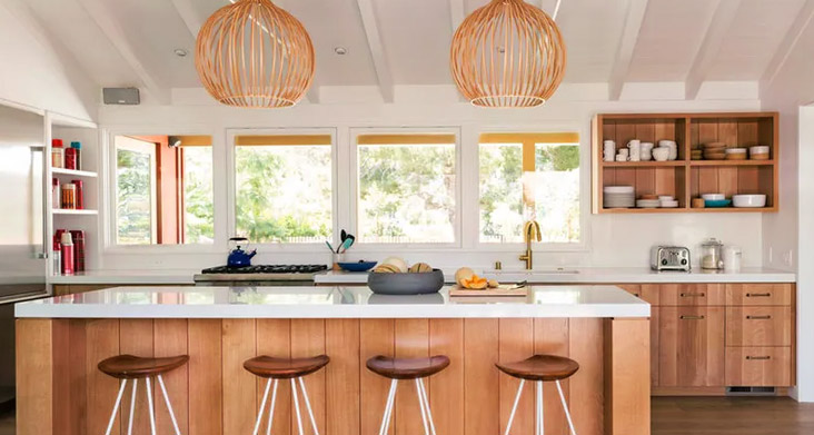 Натуральные кухонные материалы фото