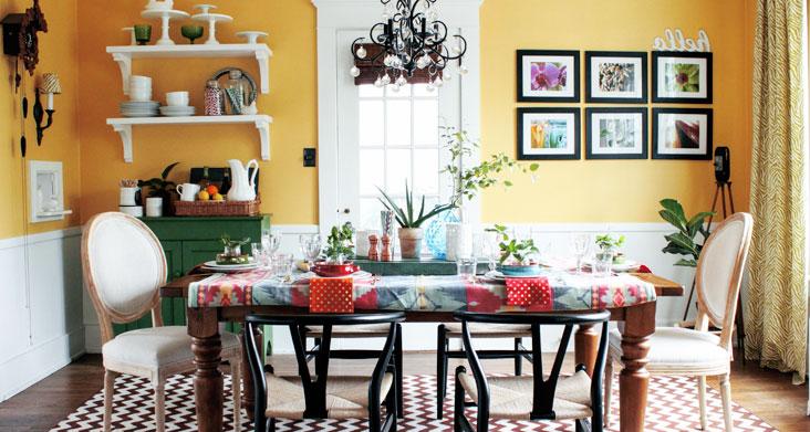 стол на кухне размер цвет и стиль фото