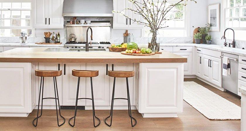 Столешница для белой кухни какую выбрать фото