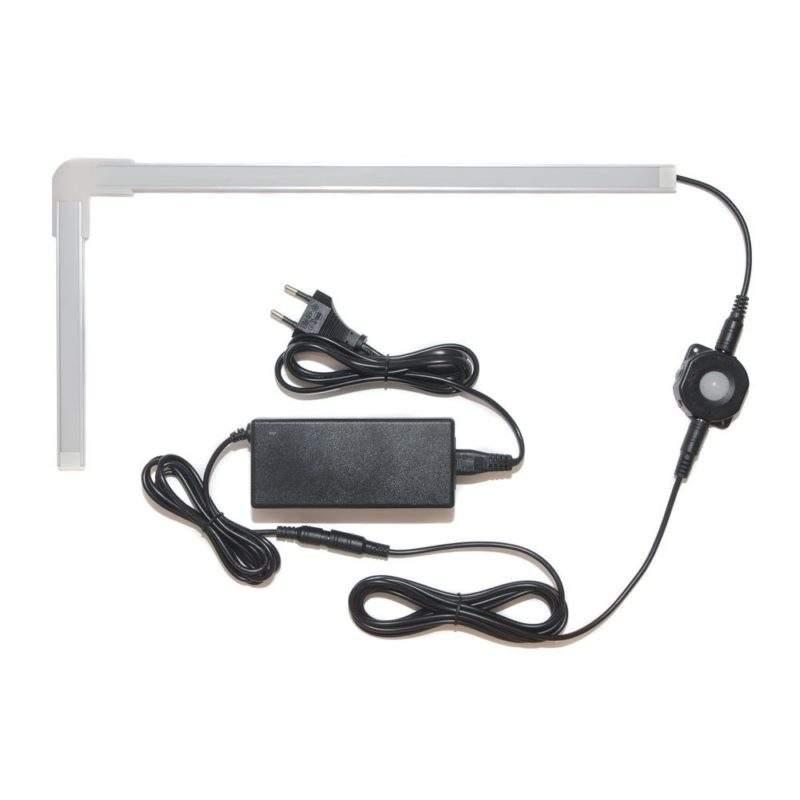 Подсветка для угловой кухни с датчиком движения лента Premium в профиле фото