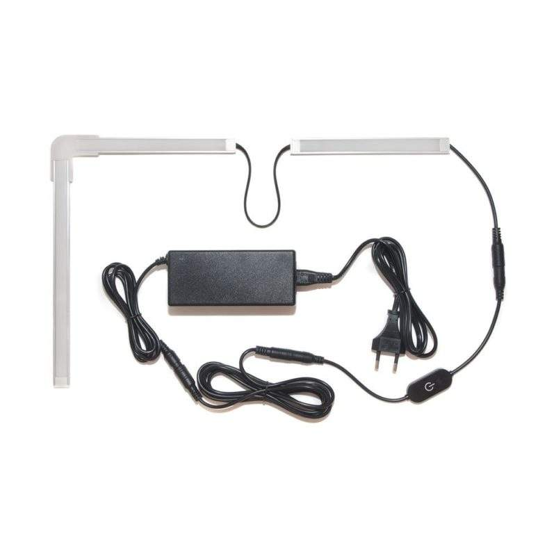 Подсветка для угловой кухни с разрывом с сенсорным выключателем лента Premium в профиле фото