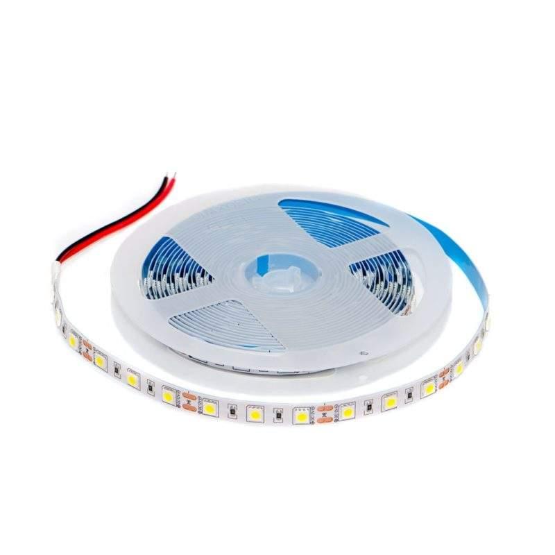Светодиодная лента 12 V (вольт): Premium, холодный белый, SMD 5050, 5 метров, 14,4 W (вт), LED 60 шт/м, IP33 фото