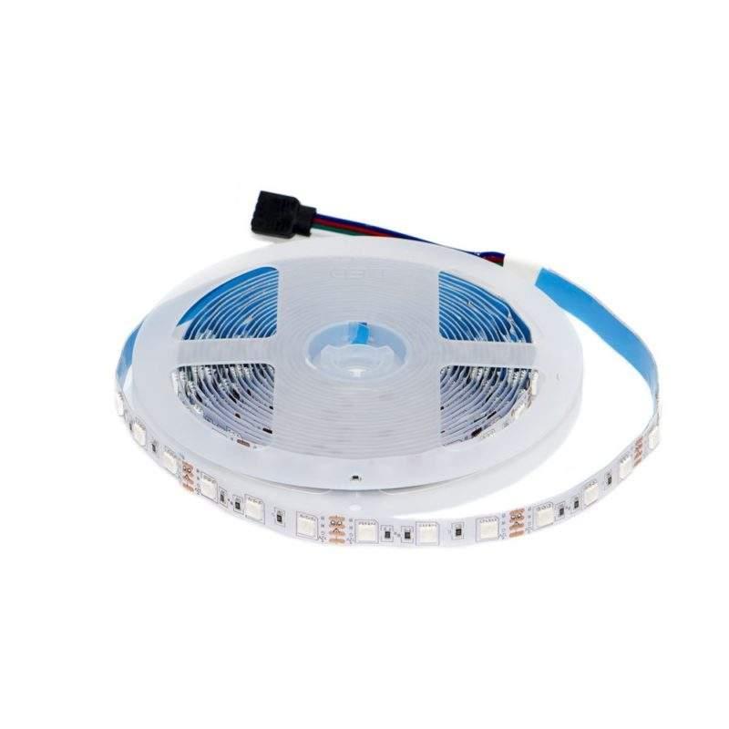 Светодиодная лента 12 V (вольт): Premium, RGB (многоцветная), SMD 5050, 5 метров, 14,4 W (вт), LED 60 шт/м, IP33 фото