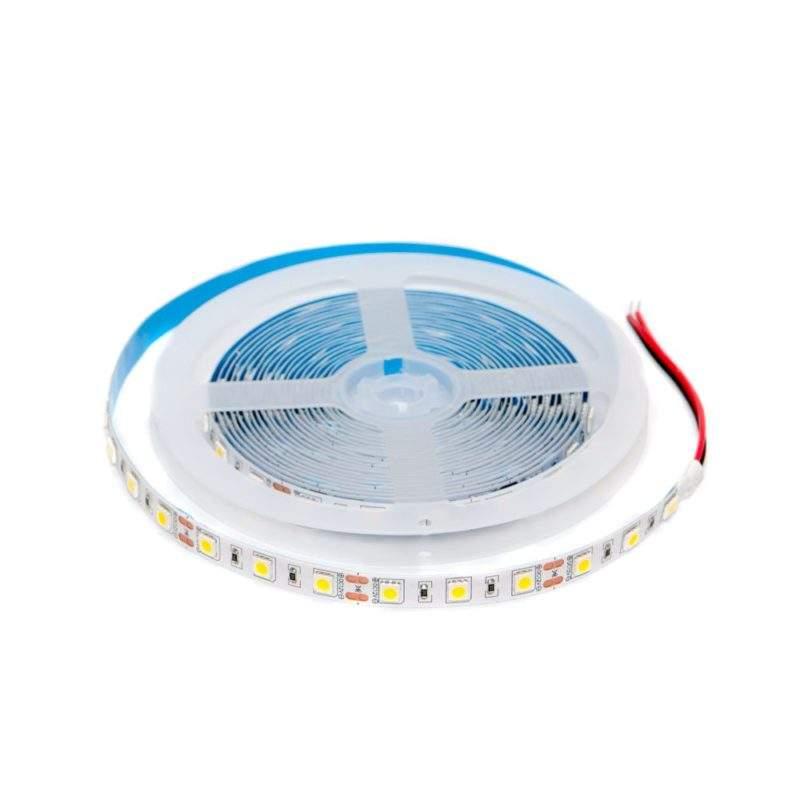 Светодиодная лента 12 V (вольт): Premium, теплый белый, SMD 5050, 5 метров, 14,4 W (вт), LED 60 шт/м, IP33 фото