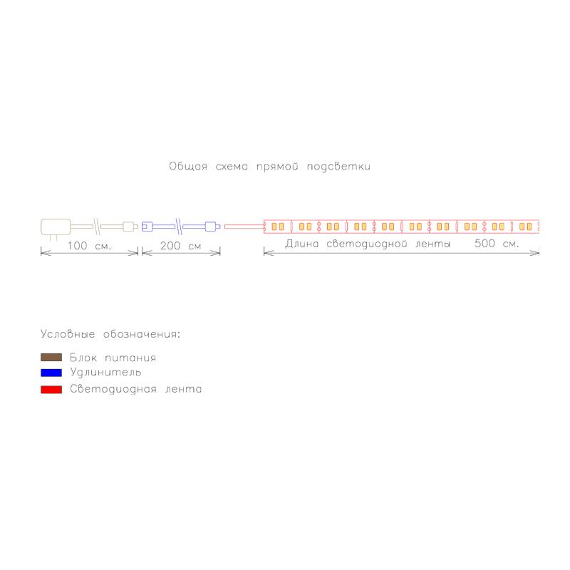 Общая схема прямой подсветки с беспроводным сенсорным выключателем фото