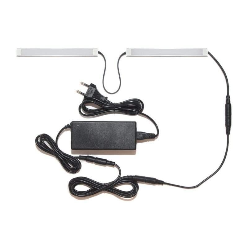 Подсветка для прямой кухни с разрывом в профиле с беспроводным выключателем и лентой Premium фото