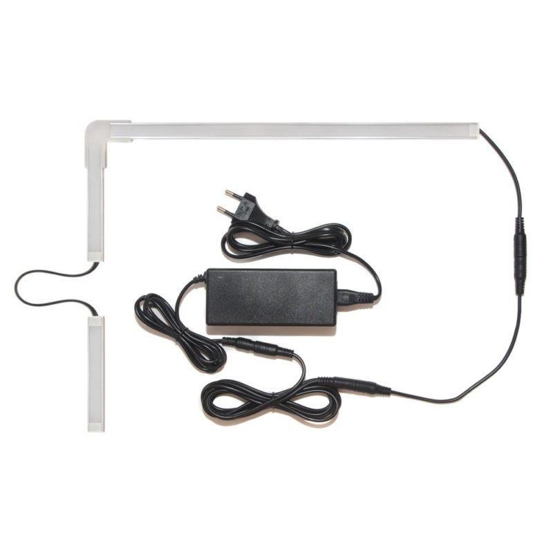 Подсветка для угловой кухни с разрывом с беспроводным выключателем: лента Premium в профиле фото