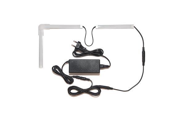 Подсветка для угловой кухни с разрывом с беспроводным выключателем: лента Premium в профиле