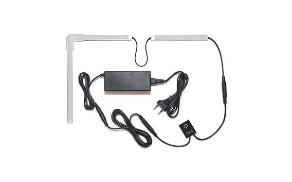 Подсветка для угловой кухни с разрывом с выключателем «Взмах руки»: лента Premium в профиле