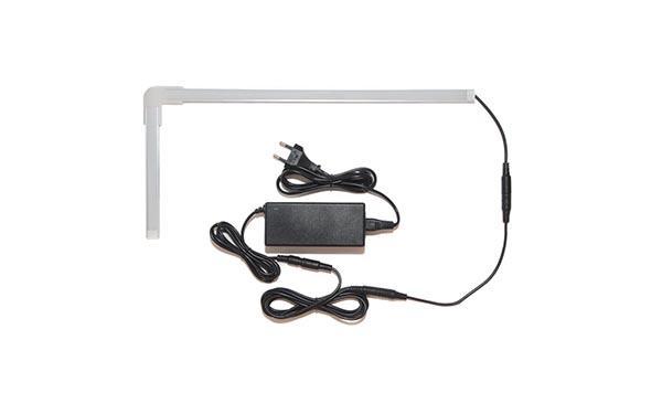 Подсветка для угловой кухни с беспроводным выключателем: лента Premium в профиле