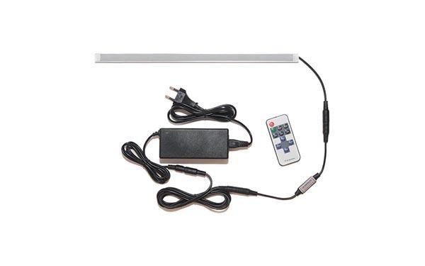 Универсальная подсветка с пультом: лента Premium в профиле