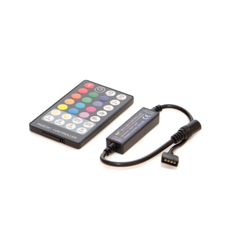 Контроллер с пультом 5-24V (вольт) PDU-06: черный, 6А (ампер), тип — RGB, с пультом 28 кнопки фото