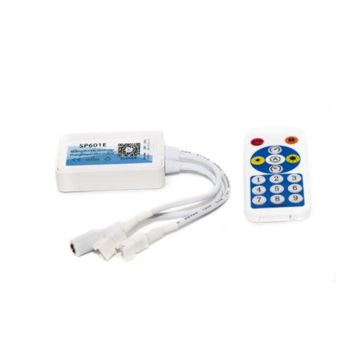 Музыкальный bluetooth контроллер для SPI ленты (бегущий огонь) SP601e с пультом фото