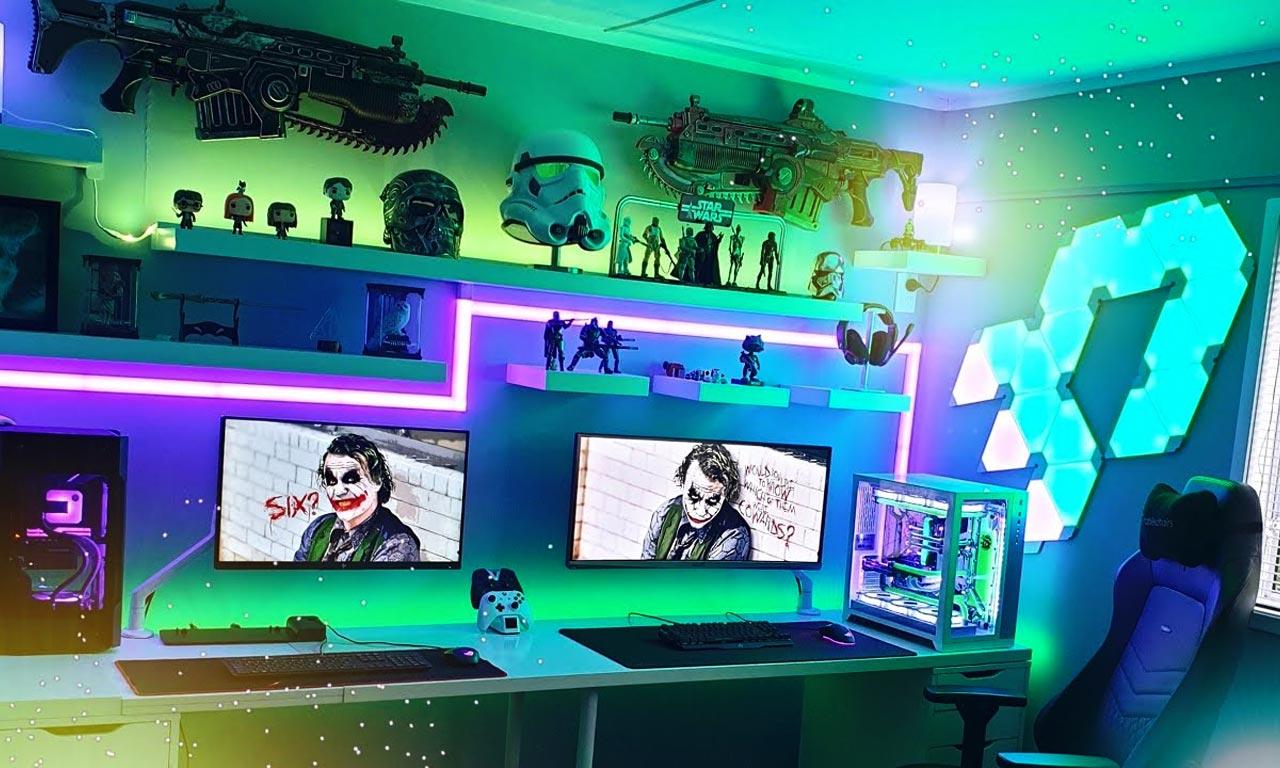 как сделать неоновую подсветку в комнате для подростка фото