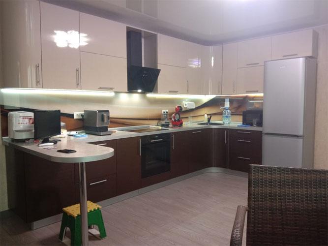 подсветка для кухни под шкафы результат установки фото